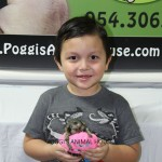 Boy with a marmoset monkey