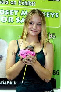 Girl holding Marmoset Monkey
