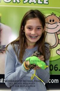 Girl holding a Marmoset